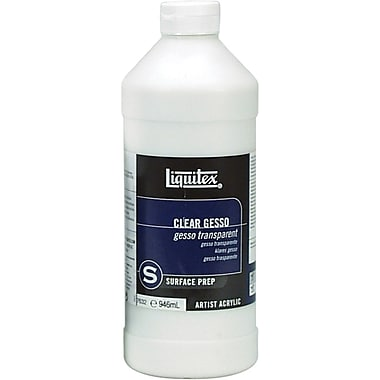 Reeves Liquitex Acrylic Clear Gesso Surface Prep, 32 Ounces