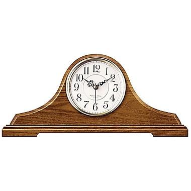 Infinity Instruments 620-OAK Oak Tambour Wood Analog Mantel Clock, Brown