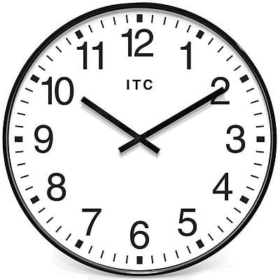 Infinity Instruments 90/0019-1 Profuse Resin Analog Wall Clock, Black