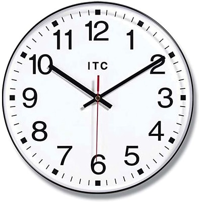 Infinity Instruments 90/1201 Prosaic Resin Analog Wall Clock, Black