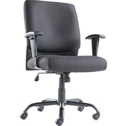 OIF Big & Tall Swivel/Tilt Mid-Back Chair, Fabric, T-Bar, Black (OIFBT4510)
