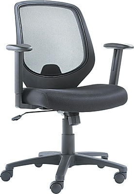OIF CD4218 Mesh Mid-Back Task Chair with Adjustable Arms, Black