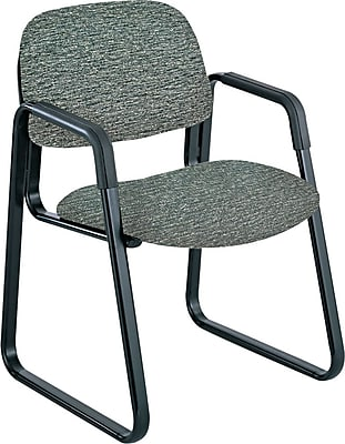 Safco® Cava® Urth™ Collection Guest Chair, Fabric, Gray, Seat: 20