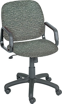 Safco Cava Urth Fabric Computer and Desk Office Chair, Fixed Arms, Gray (7045GR)