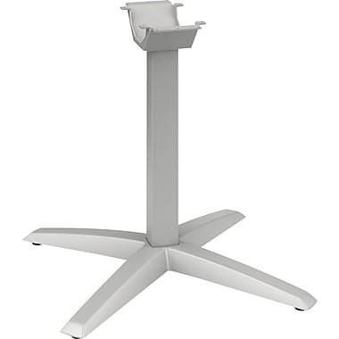 HON Aluminum X-Leg Base, Platinum, 28 3/8