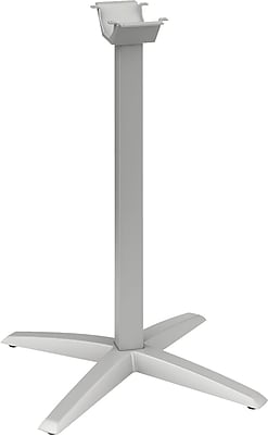 HON® Aluminum X-Leg Base, Platinum, 40 7/8