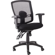 Alera Etros Mesh Computer and Desk Office Chair, Adjustable Arms, Black (ALEET4017)