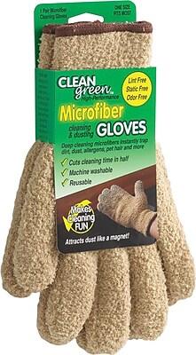 Master Caster CleanGreen™ Microfiber Dusting Gloves, Beige, 5