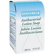 Boardwalk® Antibacterial Lotion Soap, Floral Balsam, White, 800 ml Refill