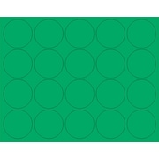 MasterVision® Interchangeable Magnetic Character, Green, Circles