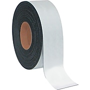 """MasterVision® 2""""(H) x 50'(L) Dry Erase Magnetic Tape Roll, White, Roll"""