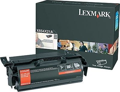 Lexmark Black X654/X658 Toner Cartridge (X654X21A), Extra High Yield
