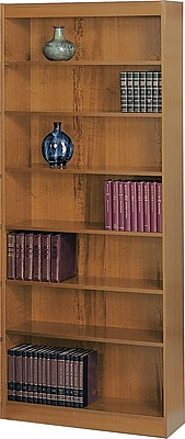 Safco Workspace 36'' 7-Shelf Bookcase, Oak (1506MOC)