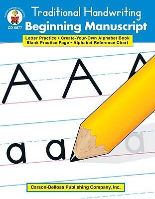 Carson-Dellosa Beginning Manuscript Resource Book