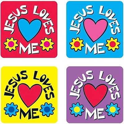 Jesus Loves Me Stickers, 120/Pk