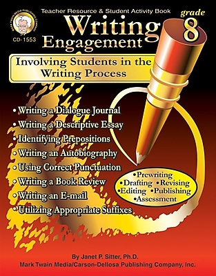 Mark Twain Writing Engagement Resource Book, Grade 8