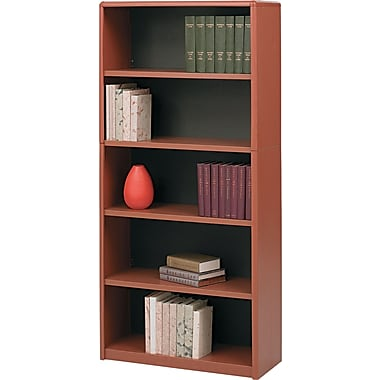 Safco® Value Mate® 5-Shelf Steel Bookcase, Cherry