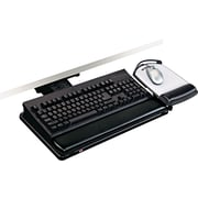 "3M Positive Locking Keyboard Tray With Highly Adjustable Platform, Black, 17 3/4""(W)"