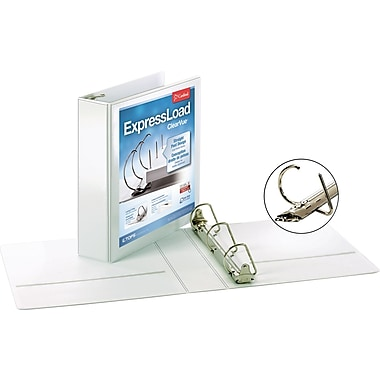 Cardinal ExpressLoad ClearVue 2-Inch D 3-Ring View Binder, White (49120)