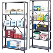 Safco® Steel Shelving, Dark Grey