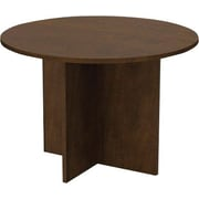 "Bestar Conference Table, 42"" Round, Chocolate"