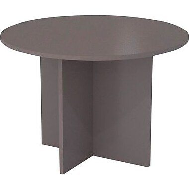 "Bestar Conference Table, 42"" Round, Sandstone & Slate"