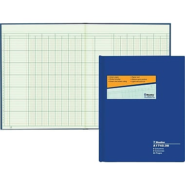 Blueline® – Livret à colonnes A1740, A1740-08, 8 colonnes