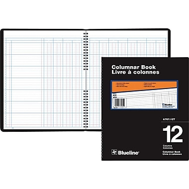 Blueline® – Livre à colonnes A767, A767-12T, 12 colonnes