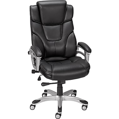 Staples Baird Bonded Leather Managers Chair Black Staples 174