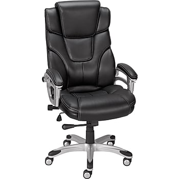 Staples Baird Bonded Leather Managers Chair (Black)