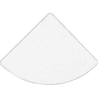 BushMD – Jonction de bureau en coin de la collection Cubix, fini gris ardoise/spectre blanc