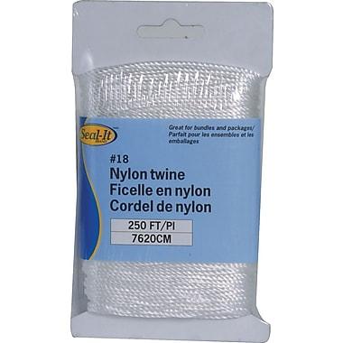 Ficelle blanche en nylon, 250 pi