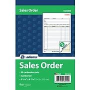 "Adams® Carbonless Sales Order Books, 8"" x 6"", 2-Parts, 10 Books/Pack (DC580510)"