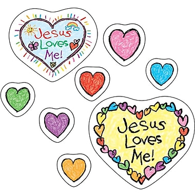 Jesus Loves Me! Shape Stickers, 108/Pk