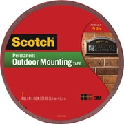"Scotch® Permanent Outdoor Mounting Tape 1"" x 450"", Each (4011-LONG)"