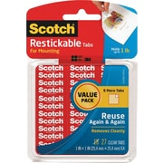 "Scotch® Restickable Tabs, 1"" x 1"", 27/Pk"