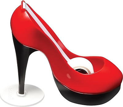 Scotch® Shoe Tape Dispenser, Red and Black