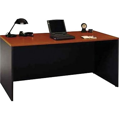 Bush® - Bureau de la collection Westfield, 66 po, fini cerisier d'automne et gris graphite