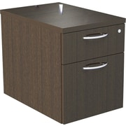 "Alera® SedinaAG 22""D 2 Drawer Hanging Box/File Pedestal, Espresso"