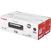 Canon Toner Cartridge, 118 Black (2662B004AA), 2/Pack