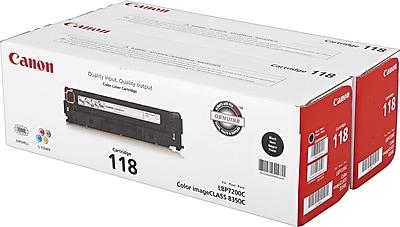 Canon Toner Cartridge, 118 Black (2662B004AA), 2/Pack