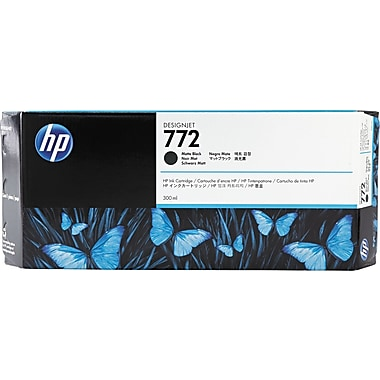 HP 772 Black Matte Ink Cartridge (CN635A), Extra High Yield