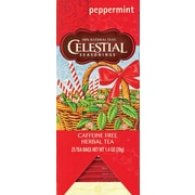 Celestial Seasonings Peppermint Herbal Tea, Decaffeinated, 25 Tea Bags/Box