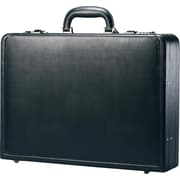 Samsonite Bonded Expandable Leather Attache, Black
