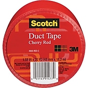 """Scotch® Duct Tape, 1.88"""" x 20 yds., Red (920-BLK-C)"""