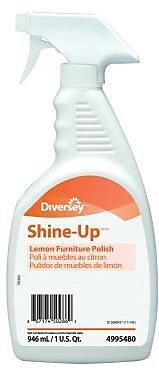 Diversey™ Shine-Up™ Furniture Polish, Lemon Scent, 1 Quart, 12/Ct