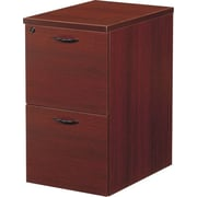 Office Star Napa Collection Mobile File/File Pedestal, Assembled, Mahogany