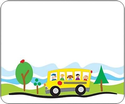 carson dellosa school bus name tags staples rh staples com Back to School Clip Art Large School Bus Clip Art