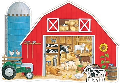 Frank Schaffer What's in the Big Red Barn? Floor Puzzle