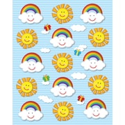 Carson-Dellosa Suns & Rainbows Shape Stickers, 90/pack (168024)